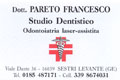 Studio Dentistico Dottor Pareto Francesco